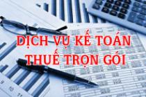 Dịch vụ kế toán thuế trọn gói uy tín chuyên nghiệp giá rẻ