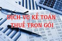 Dịch vụ kế toán thuế trọn gói doanh nghiệp mới thành lập